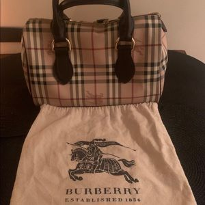 Authentic Burberry Handbag Purse Bowler Bag